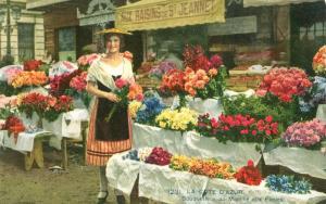 Nice, Bouquetiere au Marche aux Fleurs, early 1900s used