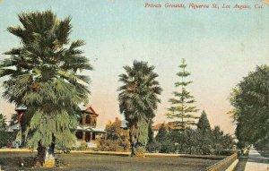LOS ANGELES  CA CALIFORNIA~PRIVATE GROUNDS-FIGUERO ST-ROSIN PUBL1908 POSTCARD