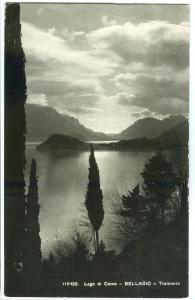 Italy, Lago di Como, BELLAGIO, Tramonto, used real photo Postcard