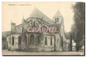 Postcard Bourges Old St Peter's Church