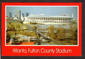 GA Fulton County Stadium Arena Atlanta Braves Falcons Football Baseball Postcard