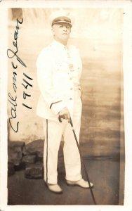 G45/ Niagara Falls New York RPPC Postcard '41 Jean Lussier Daredevil Autograph