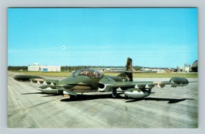 Wright Patterson Air Force Base OH, Cessna YA-37A, Chrome Ohio Postcard