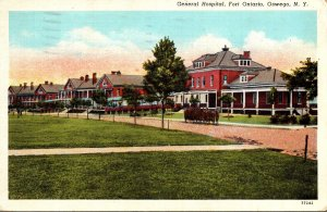 New York Oswego Fort Ontario General Hospital 1943 Curteich
