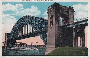 Hell Gate Bridge New York NY Postcard