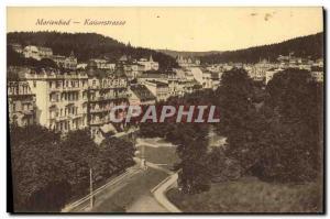 Old Postcard Marienbad Kaiserstrasse