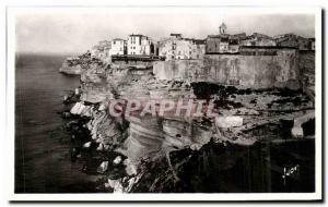 Old Postcard Bonifacio (Corsica) The cliff