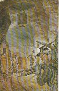 Oil Painting, Charles Banks Williams, Underground Scene, Nancy Jane Mine Tour...