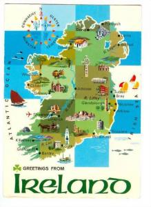 Map, Greetings From Ireland, PU-1975