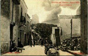 Vintage Cartolina - Eruzione Del Vesuvio - Boscotrecase - Foto Vulcano