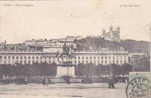 France Lyon Place Bellecour 1906