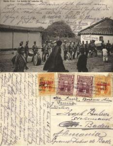 bolivia, SANTA CRUZ, La Banda del Batallón 6°, Military Music Band 1912 Postcard