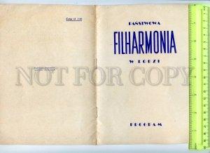 434826 1958 Oistrakh Shostakovich program concert Symphony Orchestra Lodz Poland