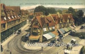 Deauville, France, Carte, Postcard Rues de I'Ecluse et Desire Le Hoc Deauvill...