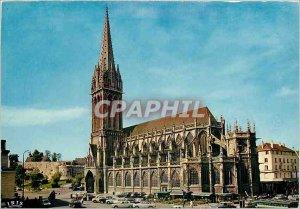 Postcard Moderne Caen Church St Pierre