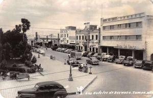 Reynosa Mexico Hotels Street Scene Real Photo Antique Postcard J40076