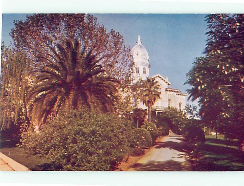 Vintage Post Card C170 Court House Sacramento Valley Fruits Redding   CA  # 4883