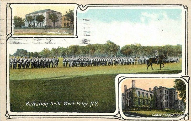 1908 Battalion Drill West Point New York Ruben Military Inset Views 2292