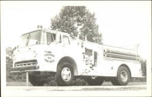 New Bern NC Area??? Township Six Fire Dept Engine c1950s-60s Photo Postcard