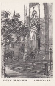 CHARLESTON, South Carolina, 1940-1950's; Steps Of The Cathedral, By Elizabeth...