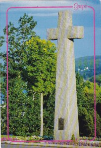 Canada Granite Cross Christ-Roi Cathedral Gaspe Ouebec