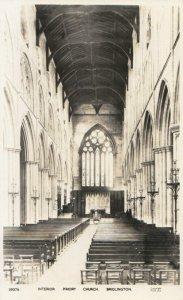 Yorkshire Postcard - Interior - Priory Church - Bridlington - Ref TZ3157