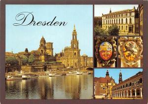 Dresden Terrassenufer Wappen aus dem Stallhof Schloss Castle River Boats