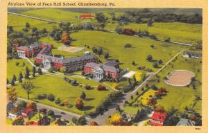 Chambersburg Pennsylvania~Penn Hall School Aerial View~Wilson College~1940s Pc