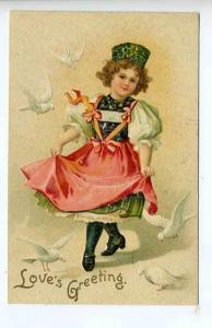 Valentines Beautiful Girl Clapsaddle Signed Postcard