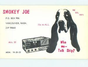 basset hound DOG - QSL CB HAM RADIO CARD Vancouver Washington WA s0212
