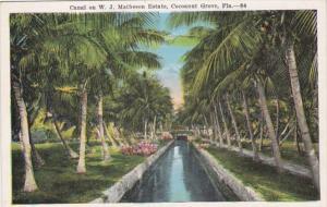 Florida Miami Canal On W J Matheson Estate