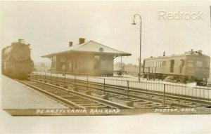 OH, Hudson, Ohio, Railroad Depot, RPPC