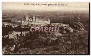 Postcard Old El Escorial General Vista Del Monasterio