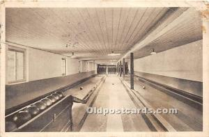 Old Vintage Bowling Postcard Post Card Bowling Lane 1922 Ink Stamp
