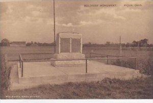 Ohio Piqua Soliders Monument-Albertype