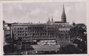 ESSEN , Germany , 30-40s ; Adolf Hitler Platz mit Baedekerhaus