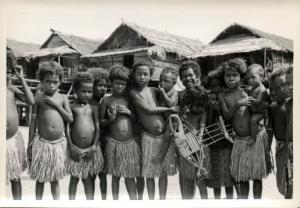 Papua New Guinea, Real Photo Native Papuas, Children (1930s) RP (13)