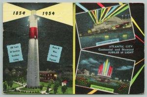 Atlantic City NJ~Worlds Playground~Centennial~Miss America Pageant 1954 Linen PC