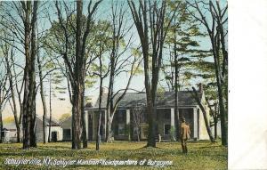 Schuylerville NY~Schuyler Mansion~Burgoyne Headquarters~Barns~1910 Postcard