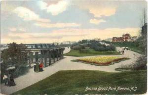 Branch Broad Park Newark New Jersey NJ, 1909 Divided Back