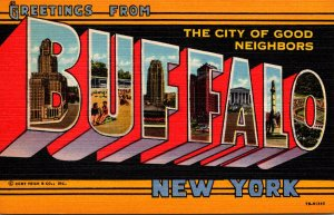 Greetings From Buffalo New York The City Of Good Neighbors Curteich