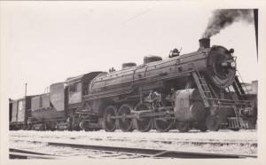 RP: Steam Engine in Train Yard , CHICAGO , Illinois, 30-40s #3