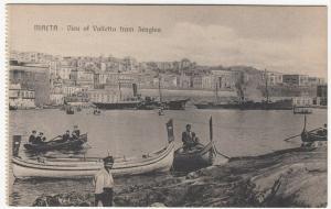 Malta; View Of Valetta From Senglea PPC, Unposted, c 1910's, Note Steam Ships