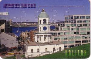 Puzzle Postcard Historic Old Town Clock, Halifax, Nova Scotia