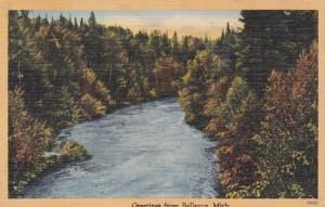 Michigan Greetings From Bellevue 1946