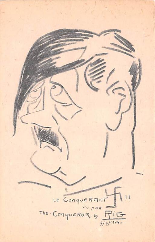 Propaganda Post Card Old Antique Vintage Heil Hitler Unused