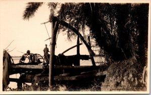 Sagia Sudan Waterwheel Postcard unused 1920s RPPC