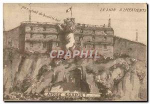 Old Postcard The Lion S & # 39Impatiente No Noise Both The Netherlands Belfor...