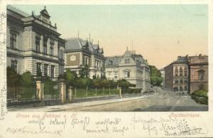 czech, JABLONEC NAD NISOU, GABLONZ, Reichsstrasse (1899)