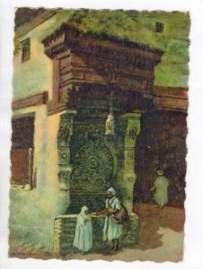 Fontaine Nedjarine A FES, Artist Signed, Maroc, Marocco, Africa, 1900-10s